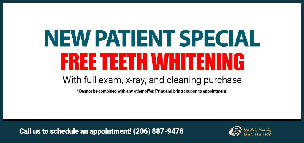 Coupon for Free Teeth Whitening for New Patients with Full Exam, Cleaning and X-Ray Purchase - Cannot be combined with any other offer